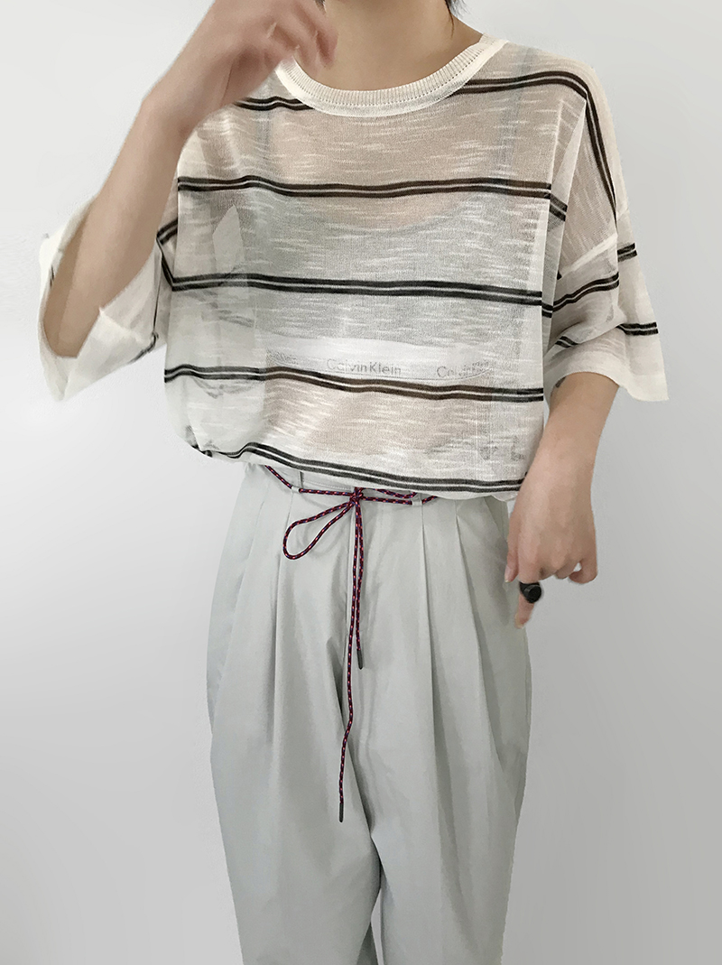 LIGHT-UP STRIPE KNIT (3color!)