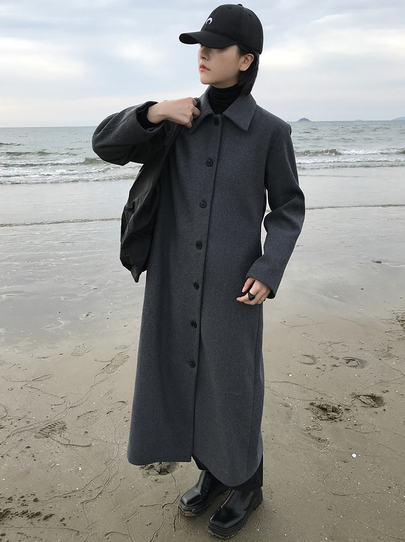 TAILOR LONG COAT (charcoal!)