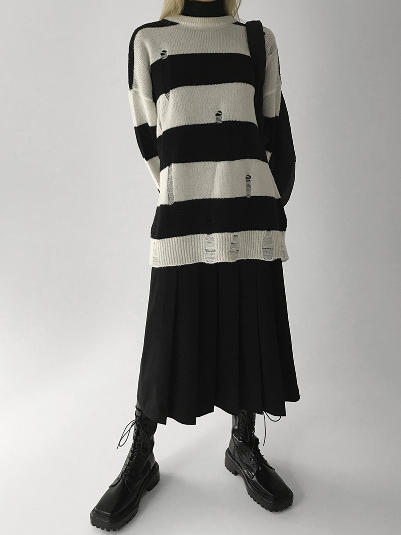 [여유주문]/HONEYBEE WOOL KNIT (beige / black)