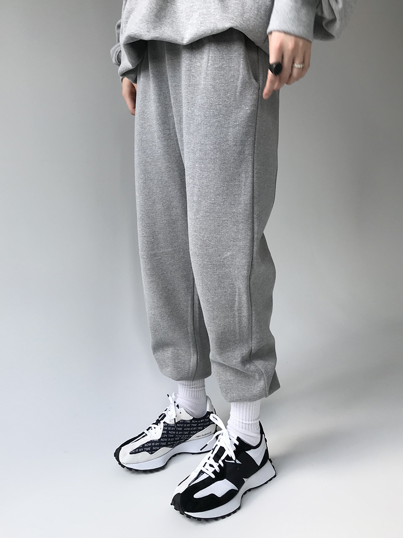 DAILY COTTON JOGGER PT (gray / black)
