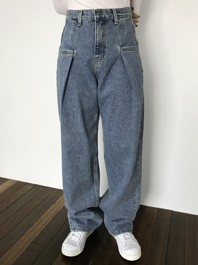 UNI PINTUCK DENIM (blue / black)