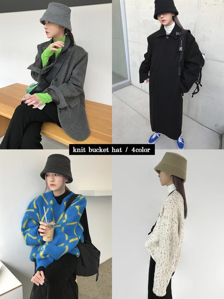 (3color 추가!) KNIT BUCKET HAT (4color!)