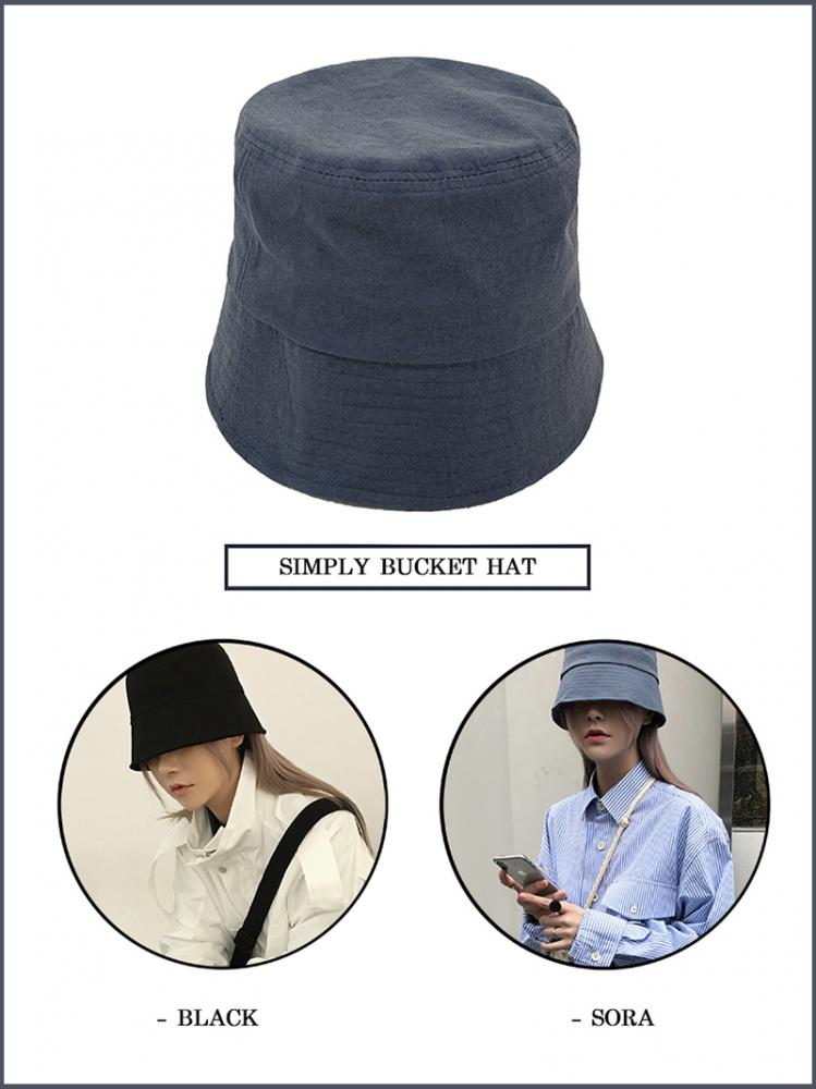 SIMPLY BUCKET HAT (2color!)