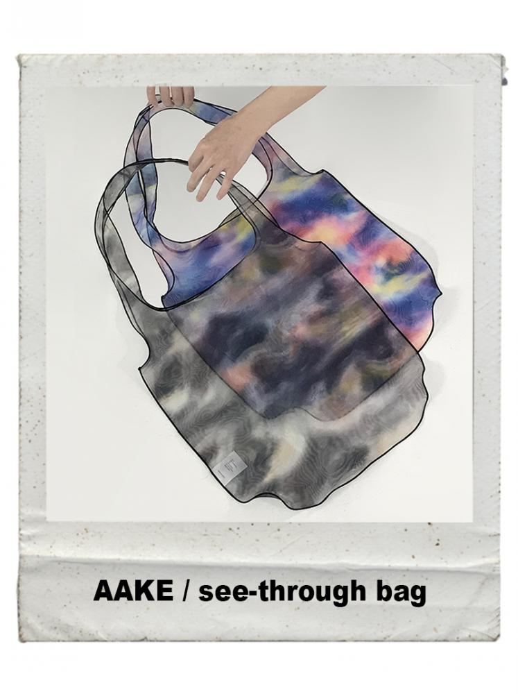 SUMMER SEE-THROUGH BAG (gray/blue!)