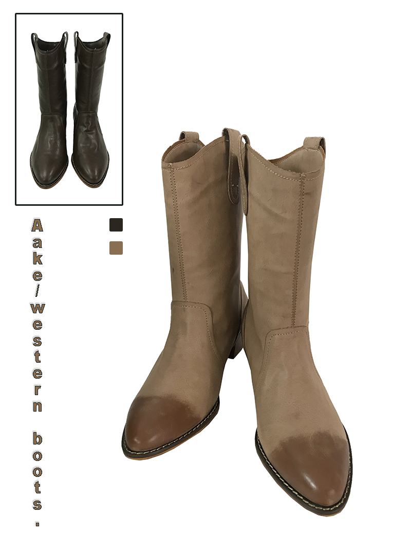 WESTERN BOOTS (beige / brown)