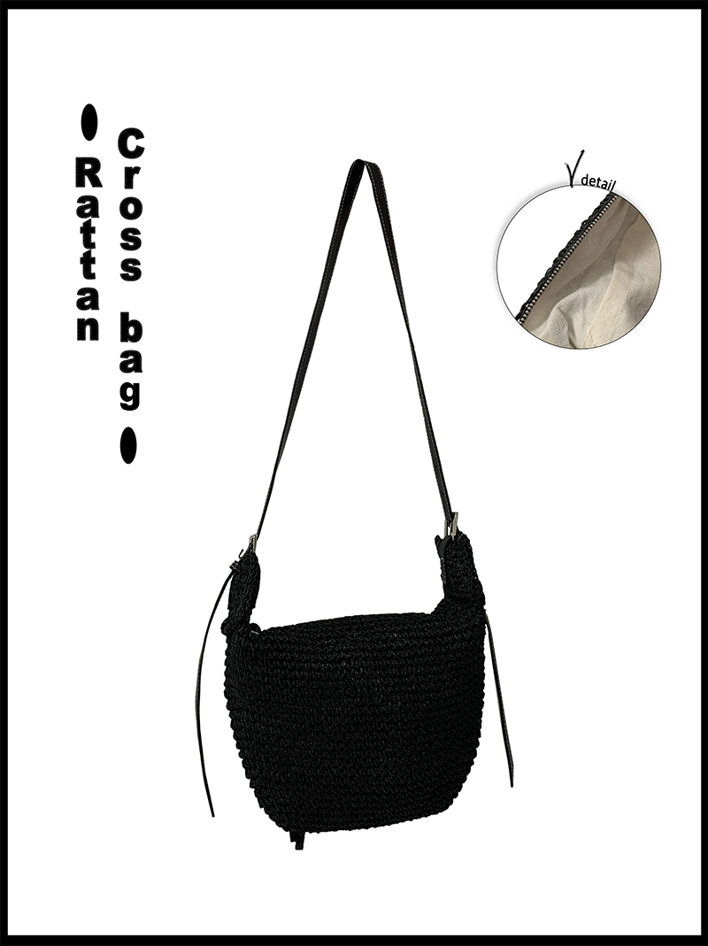 RATTAN CROSS BAG (black!)