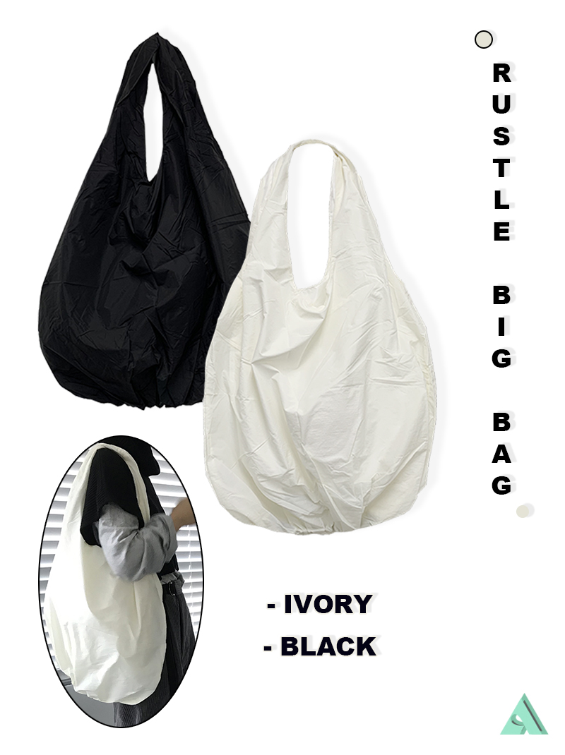 RUSTLE BIG BAG (ivory / black)