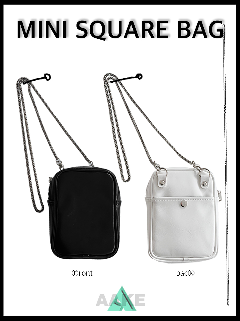MINI SQUARE BAG (black / white)