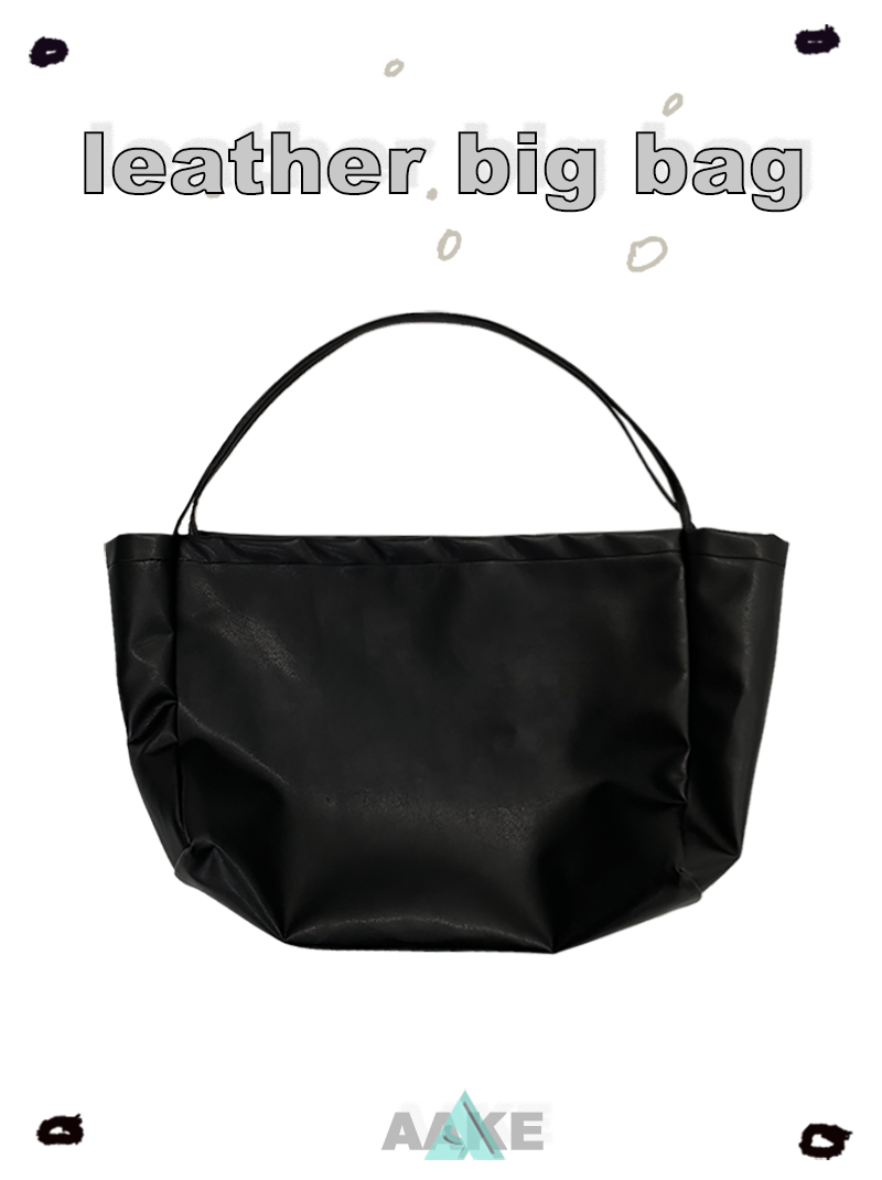 LEATHER BIG BAG (only black!)