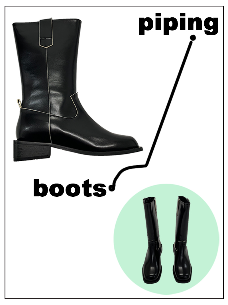 PIPING BOOTS (only black!)